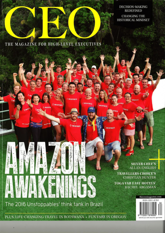 CEO Magazine April 2016. Unstoppables Cover